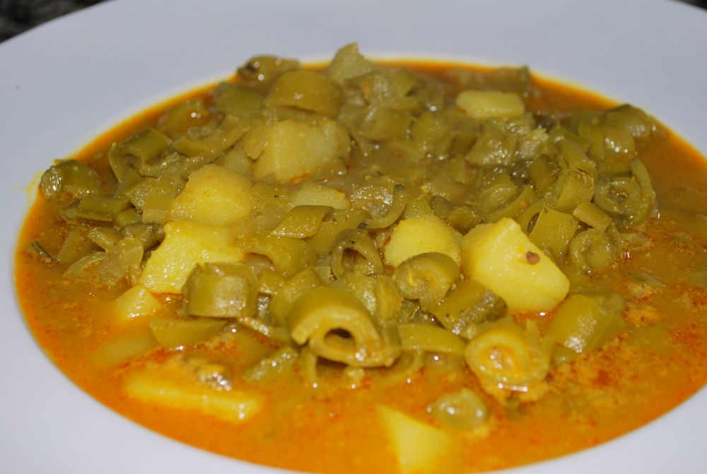 Beautiful hearty broad bean soup