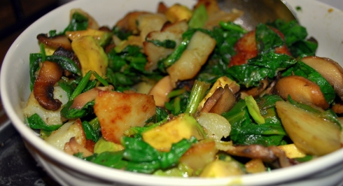 Spinach & Mushrooms (2)