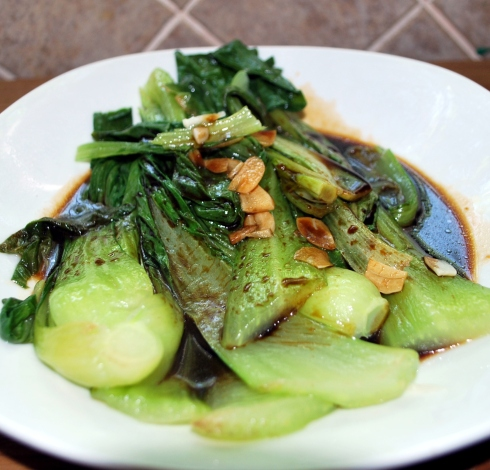 Pak Choi with Oyster Sauce (4)