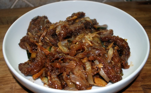 Stir Fried Beef with Gnger (3)