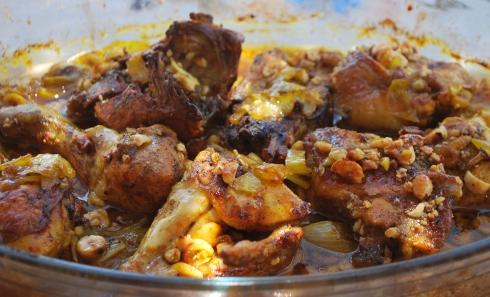 Chicken with Saffron Hazelnuts & Honey (8)