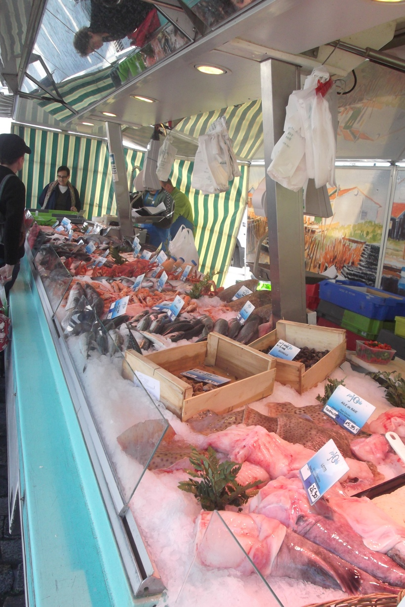 I was too busy chatting to the butcher to take a snap, so here's one of the fish stall!