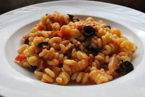 Pasta with Smoked Pork Belly (2)