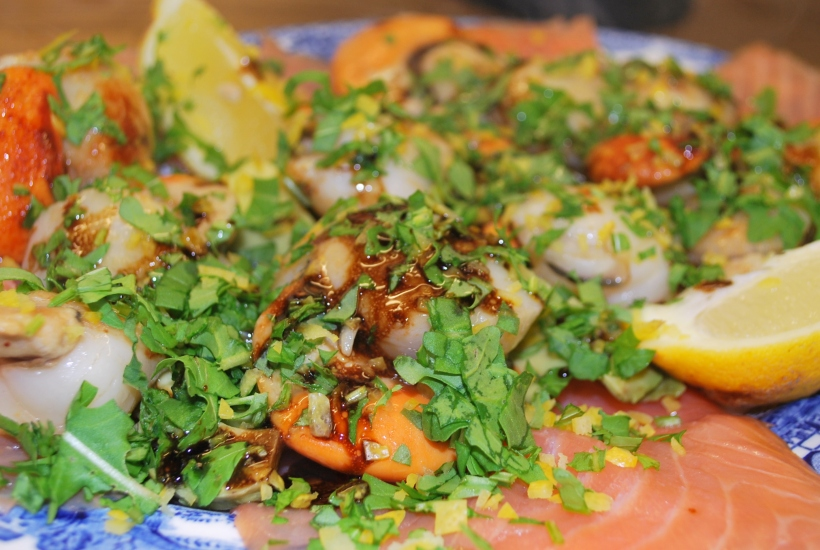 Scallops & Salmon iwth Lemon & Rocket 004