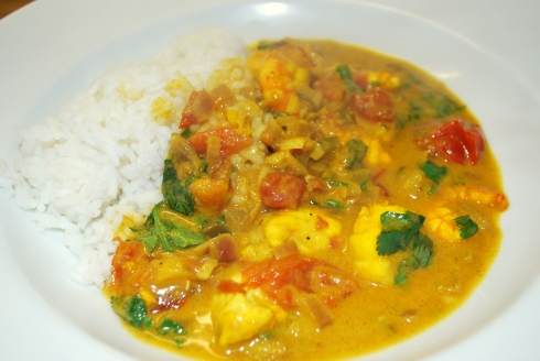 Monkfish & Prawn Curry (4)